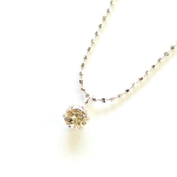 18金 ホワイトゴールド ダイヤモンド 0.15ct ネックレス【代引不可】
