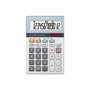 【マラソンでポイント最大43倍】(業務用30セット) シャープ SHARP 環境配慮電卓 ミニナイスサイズ EL-M712K