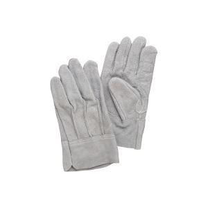 【スーパーセールでポイント最大44倍】(業務用100セット) 熱田資材 革手袋床革手袋 背縫い NO.11 グレー
