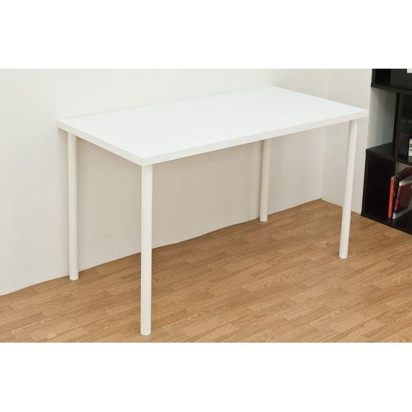 フリーテーブル(作業台/PCデスク/書斎テーブル) 幅120cm×奥行60cm ホワイト(白) 天板厚3cm【代引不可】