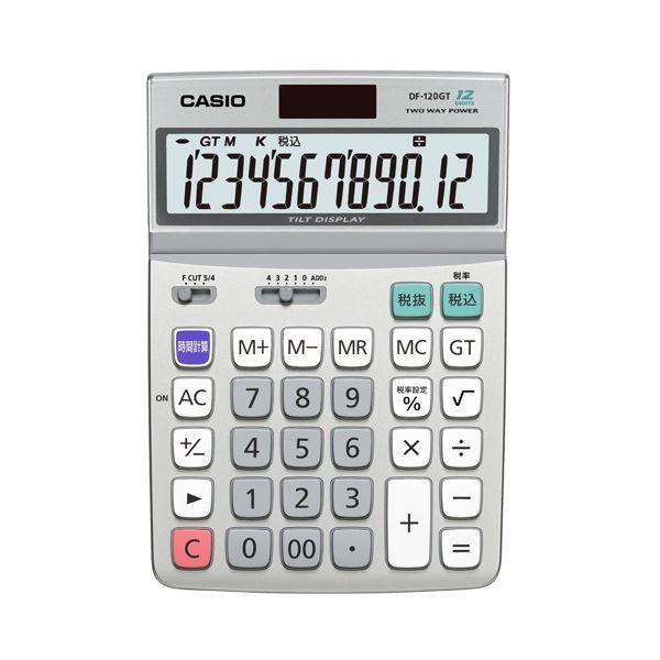 【マラソンでポイント最大43倍】(まとめ) カシオ CASIO エコマーク付電卓 12桁 デスクタイプ DF-120GT-N 1台 【×2セット】
