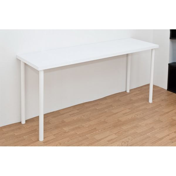 フリーテーブル(作業台/PCデスク/書斎テーブル) 幅150cm×奥行45cm ホワイト(白) 天板厚3cm【代引不可】
