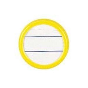 (業務用300セット) ソニック 丸型名札 NF-15-Y 両用 大 黄