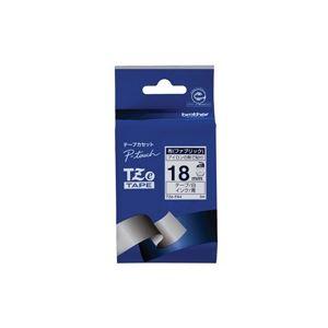 【マラソンでポイント最大43倍】(業務用30セット) ブラザー工業 布テープ TZe-FA4白に青文字 18mm