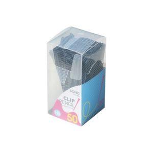 (業務用100セット) ソニック クリップ付ペンシル50本入 DA-488-D 黒
