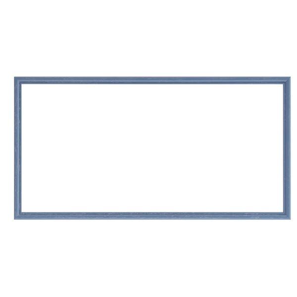 シンプルな天然木製の横長フレーム 横長額 絵画用品 美術用品 クーポン配布中 ナチュラル仕様 優先配送 額縁 吊金具付き 木製 横長型 お得なキャンペーンを実施中 フレーム ブルー 400×250