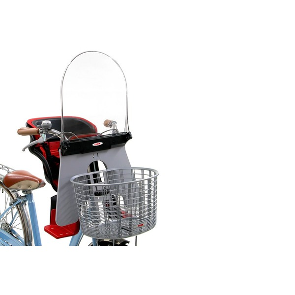 チャイルドシート付き自転車用UVカット風防ガード 【OGK】UV-011 グレー(灰) 〔自転車パーツ/アクセサリー〕【代引不可】