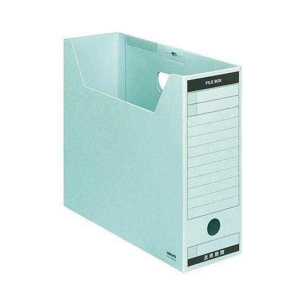 (まとめ) コクヨ ファイルボックス-FS(Bタイプ) A4ヨコ 背幅102mm 青 フタ付 A4-LFBN-B 1パック(5冊) 【×3セット】