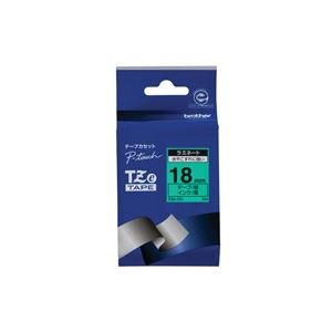【マラソンでポイント最大43倍】(業務用30セット) brother ブラザー工業 文字テープ/ラベルプリンター用テープ 【幅:18mm】 TZe-741 緑に黒文字