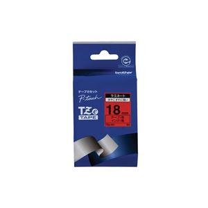 【スーパーセールでポイント最大44倍】(業務用30セット) brother ブラザー工業 文字テープ/ラベルプリンター用テープ 【幅:18mm】 TZe-441 赤に黒文字