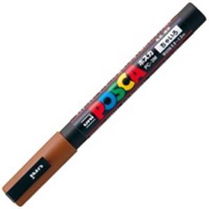 (業務用200セット) 三菱鉛筆 ポスカ/POP用マーカー 【細字/茶】 水性インク PC-3M.21