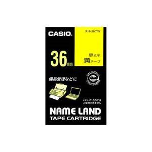 【マラソンでポイント最大43倍】(業務用20セット) CASIO カシオ ネームランド用ラベルテープ 【幅:36mm】 XR-36YW 黄に黒文字