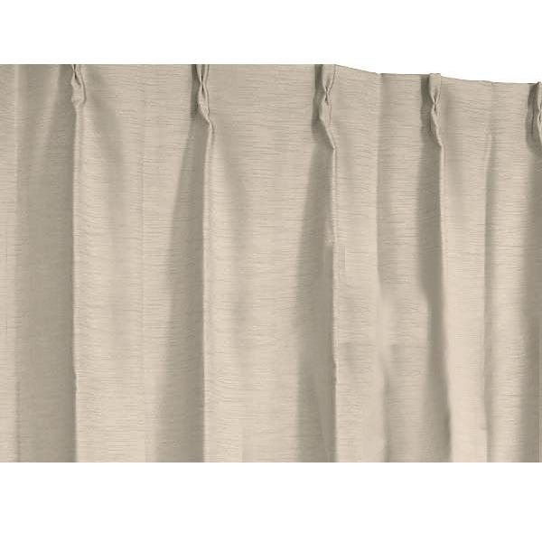 【スーパーセールでポイント最大44倍】遮光 遮熱 遮音 保温 シンプルカーテン / 1枚のみ 150×225cm ベージュ / 3重加工 洗える 形状記憶 『ラウンダー』 九装