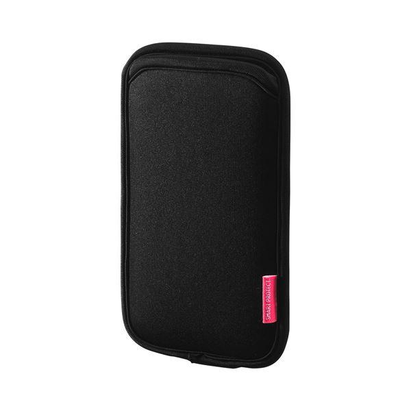 【マラソンでポイント最大43倍】(まとめ)サンワサプライ マルチスマートフォンケース(5.5インチ用) PDA-SPC15BK【×5セット】