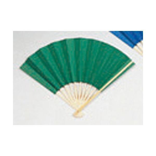 【マラソンでポイント最大43倍】(業務用20セット) ゴークラ カラー扇子 緑