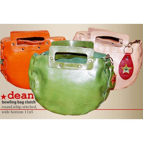 【マラソンでポイント最大43倍】★dean(ディーン) bowling bag ハンドバッグ ライム