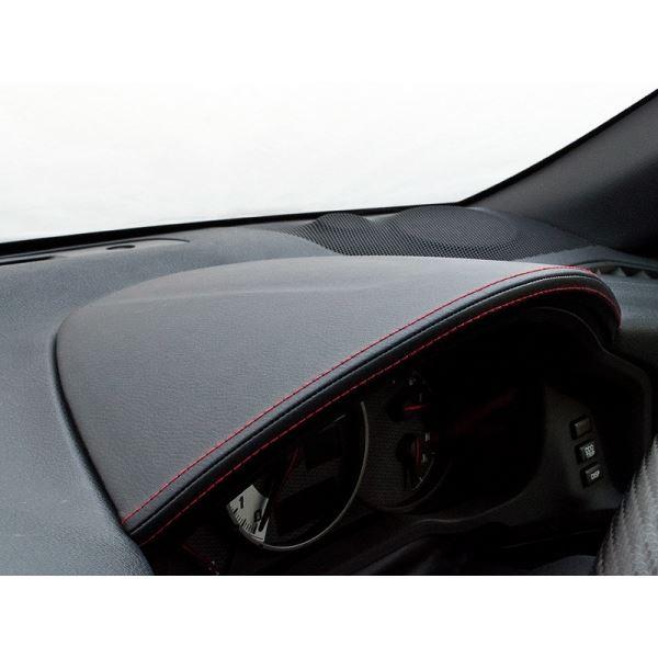 86 ZN6 メーターフードカバー タイプ:レザー合皮ブラック シルクロード