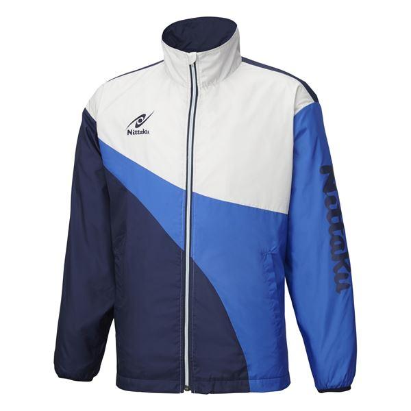 【マラソンでポイント最大41倍】ニッタク(Nittaku) 卓球アパレル LIGHT WARMER SPR SHIRT(ライトウォーマーSPRシャツ)男女兼用 NW2848 ブルー M
