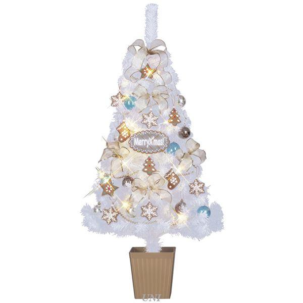 【マラソンでポイント最大43倍】クリスマスツリー 【スイーツクリスマス ホワイト】 120cmサイズ 『セットツリー』 〔イベント パーティー〕