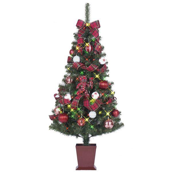 クリスマスツリー 【チャーム】 120cmサイズ 四角ポット付き 『セットツリー』 〔イベント パーティー〕