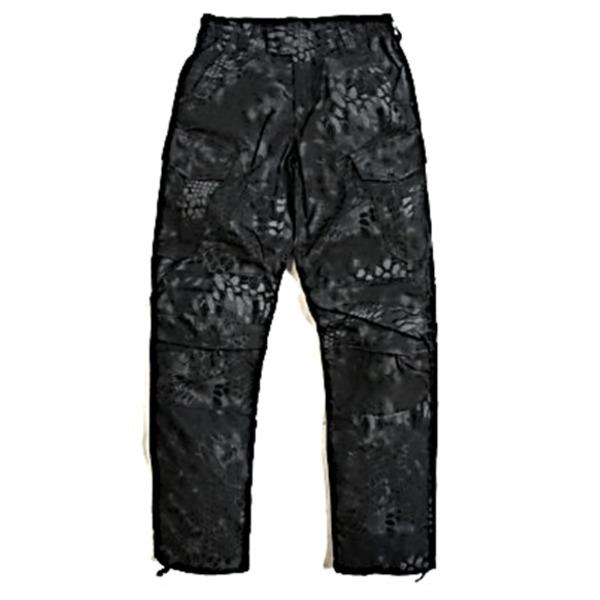 【マラソンでポイント最大43倍】アメリカ軍 最新鋭ステレス 迷彩オペレーター吸汗速乾パンツ HCP ブラック M