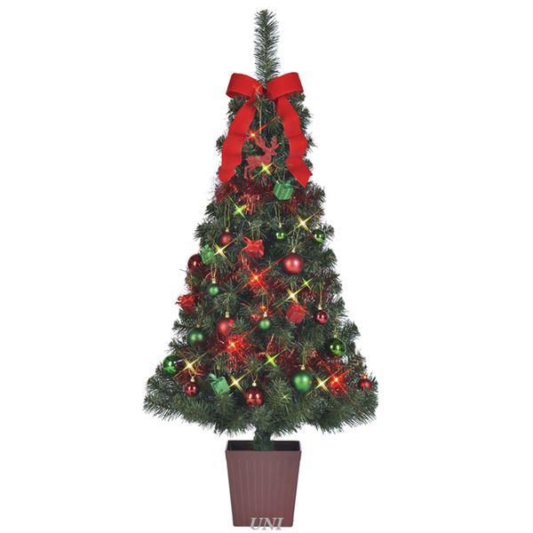 【スーパーセールでポイント最大43倍】クリスマスツリー 【ナブルツリー】 135cmサイズ 四角ポット付き 『セットツリー』 〔イベント パーティー〕