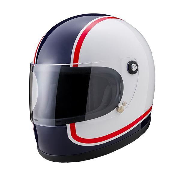 【マラソンでポイント最大43倍】ヤマシロ(山城) オートパーツ ニューレトロフルフェイスヘルメット 750アオ XLサイズ
