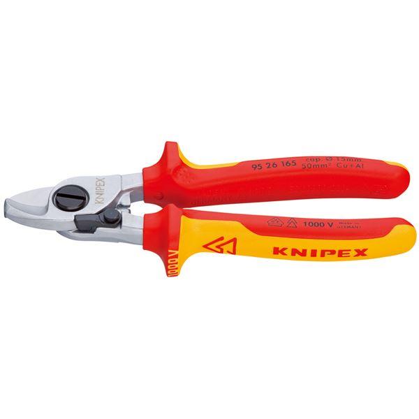 KNIPEX(クニペックス)9526-165 絶縁ケーブルカッター(バネ付)1000V(SB)