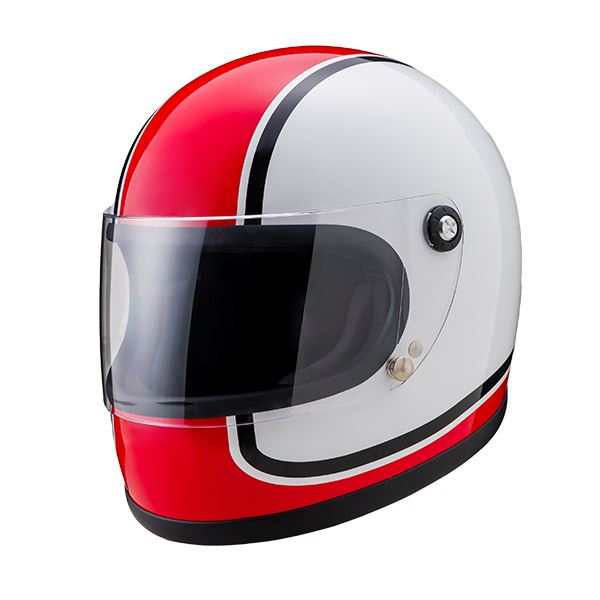 ヤマシロ(山城) オートパーツ ニューレトロフルフェイスヘルメット 750アカ Mサイズ