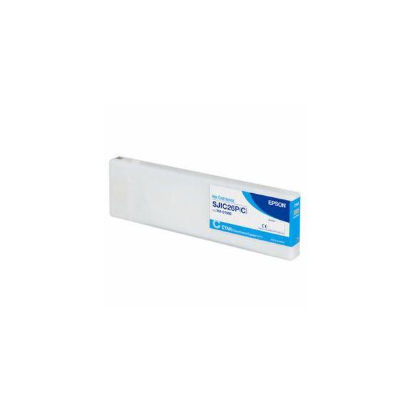 b398a922b8c1 EPSONTM-C7500専用インクカートリッジシアンSJIC26PC ガラスブロック 【安心安全 】