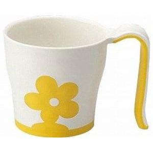 【マラソンでポイント最大43倍】(まとめ)三信化工 食事用具 自助食器マグカップ イエロー UPC-180Y【×10セット】