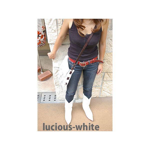 ★dean(ディーン) fringe bag ショルダーバッグ 斜めがけバッグ 白