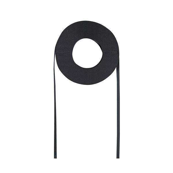 (まとめ)サンワサプライ 超フラットケーブルのみ(ブラック・100m) LA-FL5-CB100【×2セット】