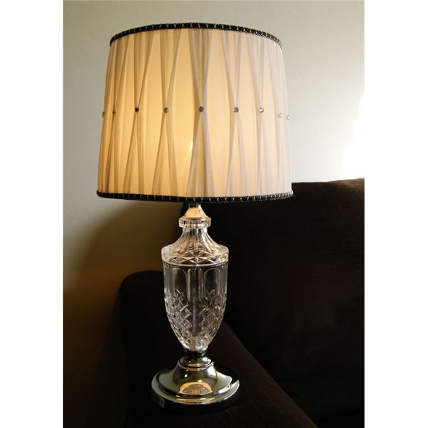 テーブルランプ(照明器具/卓上ライト) アンティーク調 ガラス/布 〔リビング照明/寝室照明/ダイニング照明〕【電球別売】【代引不可】