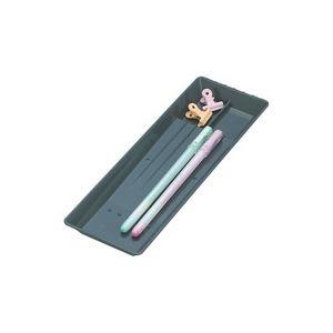 【マラソンでポイント最大44倍】(業務用100セット) オープン工業 ペン皿 PS-21-BK 小 黒