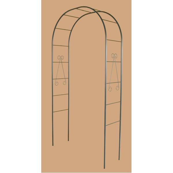 フラワーアーチ/ガーデニング用品 【幅120cm】 スチールパイプ製 日本製 普及型 〔園芸 庭 花 エクステリア〕
