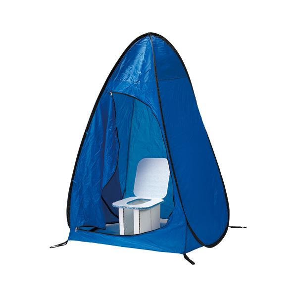 【マラソンでポイント最大43倍】(業務用セット) ホリアキ インスタントイレ 快速快適テント 快速快適テント青 1台入 【×2セット】