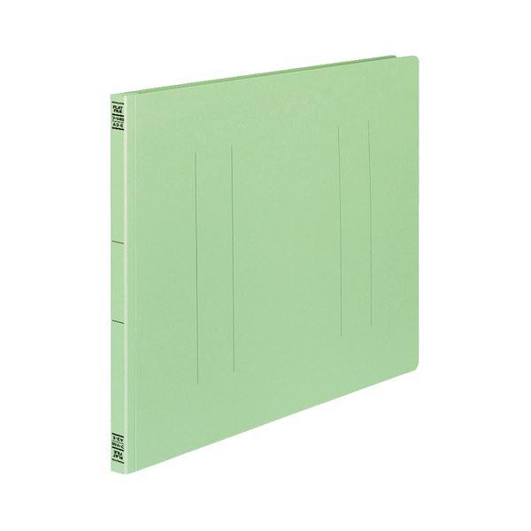 (まとめ) コクヨ フラットファイルV(樹脂製とじ具) A3ヨコ 150枚収容 背幅18mm 緑 フ-V48G 1パック(10冊) 【×3セット】