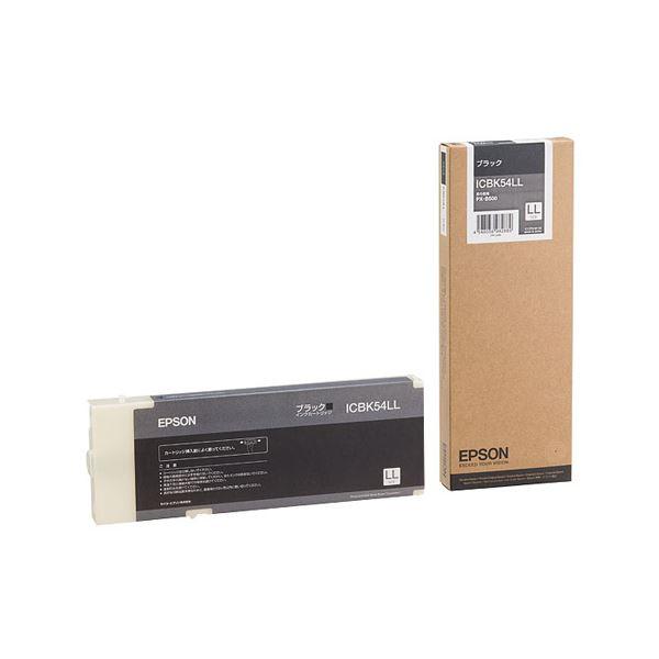 (まとめ) エプソン EPSON インクカートリッジ ブラック LLサイズ ICBK54LL 1個 【×3セット】
