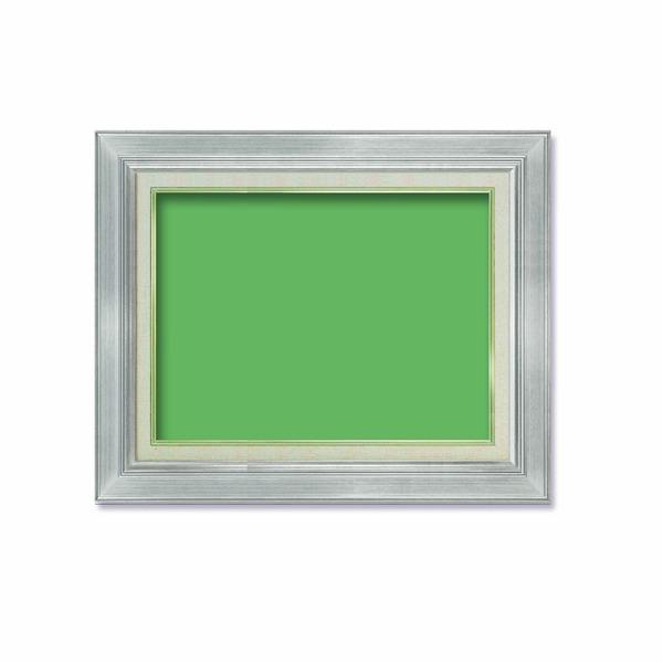 【油額】油絵額・キャンバス額・金の油絵額・銀の油絵額 ■P6号(410×273mm)「シルバー」