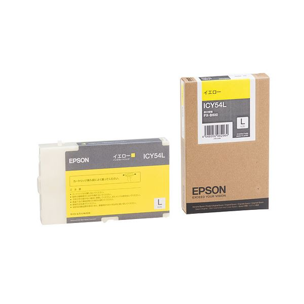 (まとめ) エプソン EPSON インクカートリッジ イエロー ICY54L 1個 【×3セット】