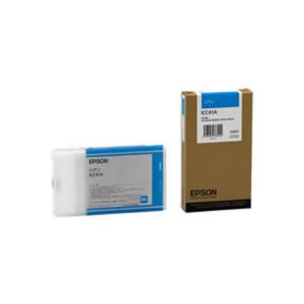(業務用3セット) 【純正品】 EPSON エプソン インクカートリッジ/トナーカートリッジ 【ICC41A C シアン】