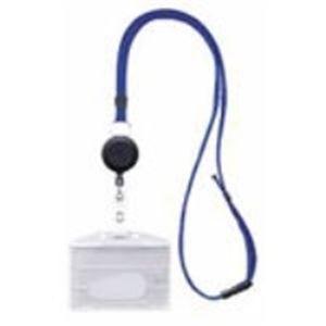 (業務用100セット) 西敬 リールクリップ付き名札ID用 MLE-R346B 青