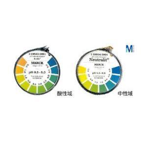 【マラソンでポイント最大43倍】(まとめ)メルクpH試験紙ロールタイプ 酸性域 0.5~5【×10セット】