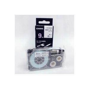 (業務用50セット) カシオ CASIO 配線マーカーテープ XR-9HMWE 9mm