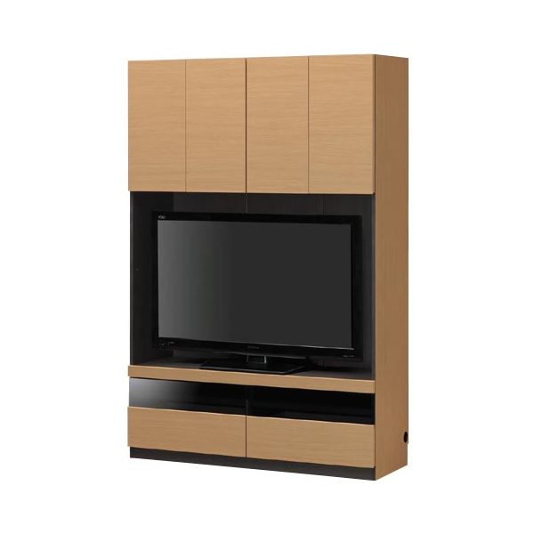 壁面テレビ台/テレビボード 【幅120cm/~48型対応】 ナチュラル 日本製 『PORTALE ポルターレ』【代引不可】