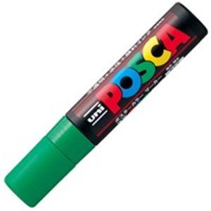 鮮やかで耐水性に優れたサインペン フェルトペン 売店 水性ペン スーパーセールでポイント最大44倍 ディスカウント 業務用100セット 三菱鉛筆 極太 水性インク ポスカ POP用マーカー 緑 PC-17K.6