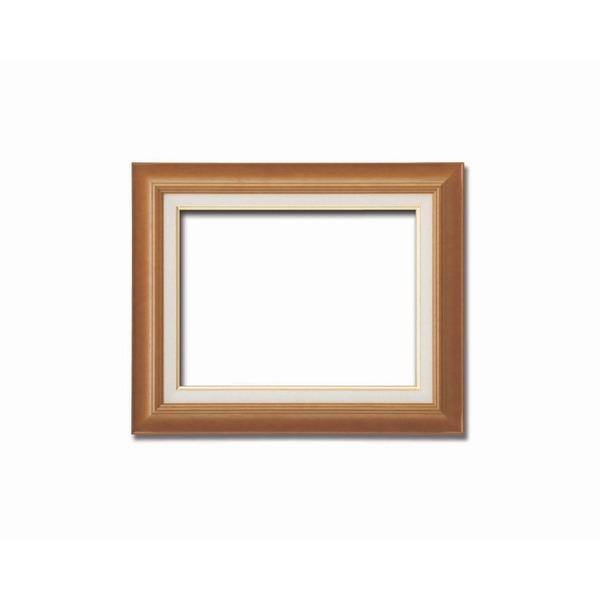 【油額】油絵額・キャンバス額・木製油絵額・茶色油絵額 ■F8号(455×380mm) 「チーク」