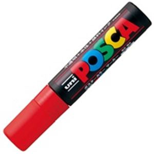 鮮やかで耐水性に優れたサインペン フェルトペン 水性ペン スーパーセールでポイント最大44倍 ファクトリーアウトレット 業務用100セット 三菱鉛筆 POP用マーカー 水性インク PC-17K.15 赤 新作送料無料 ポスカ 極太