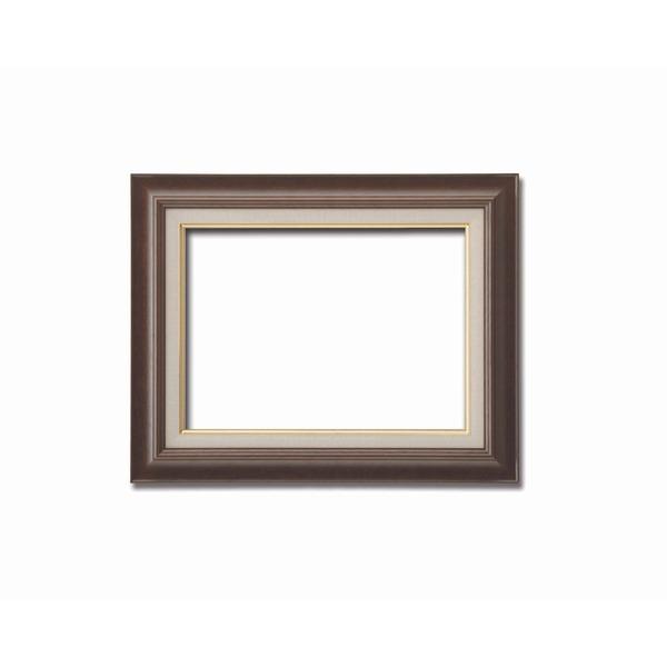 【油額】油絵額・キャンバス額・木製油絵額・茶色油絵額 ■F8号(455×380mm) 「ブラウン」